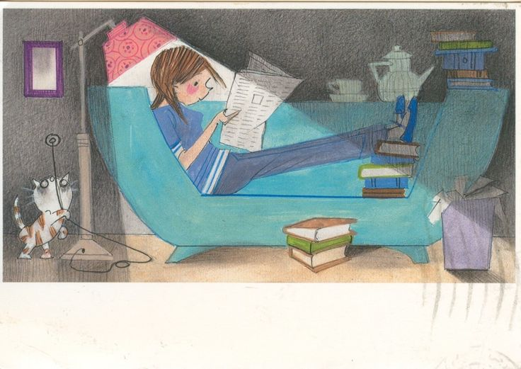 reading illustration by Fiep Westendorp