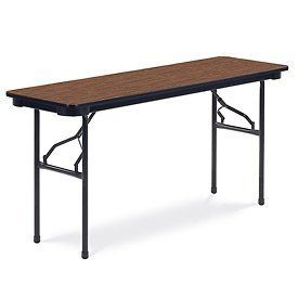 "Virco® 601860 Traditional Folding Table 18""X60"", Black With Walnut Top by VIRCO INC. $113.95"