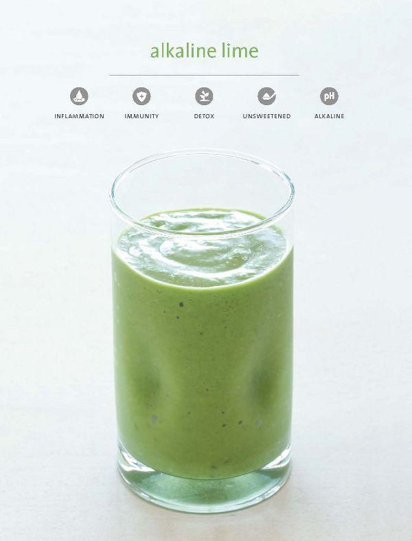 Candida diet, sugar-free, dairy-free alkaline lime smoothie via @rickiheller by @theblendergirl