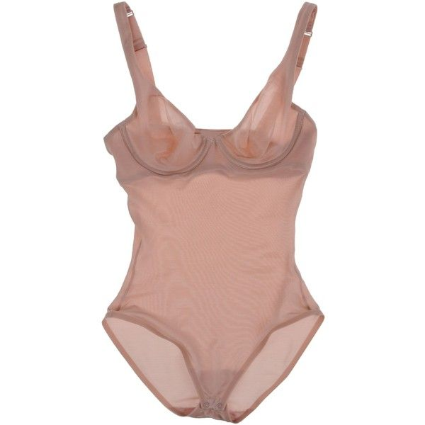 Wolford Bodysuit (83.025 CLP) ❤ liked on Polyvore featuring intimates, shapewear, underwear and light pink