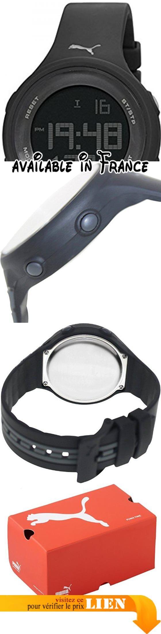 B00EU9V9IO : Montre bracelet - Mixte - Puma - PU911091002. Montre Mixte à mouvement Quartz - Bracelet en Résine multicolore. Type d'affichage : Digital. Diamètre du cadran : 44 millimètres. Type de verre : Plastique