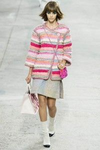 chanel pink printed dress collection by Paris Fashion Week 2014