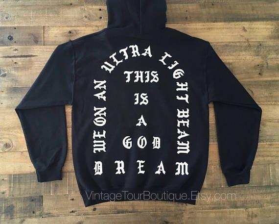 I Feel Like Pablo Hoodie Black - White Yeezus #clothing #hoodie @EtsyMktgTool http://etsy.me/2iBxabL