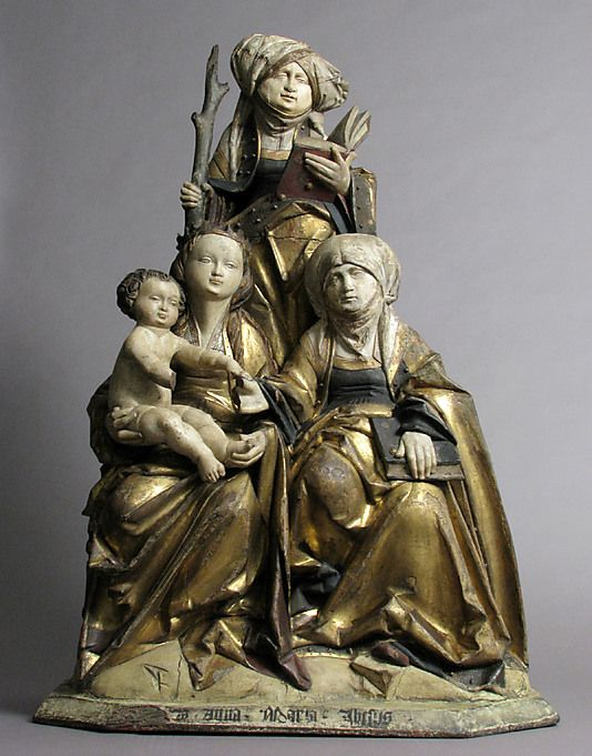The Virgin and Child, Saint Anne, and Saint Emerentia 1515-30 from Lower Saxony, Germany The Met