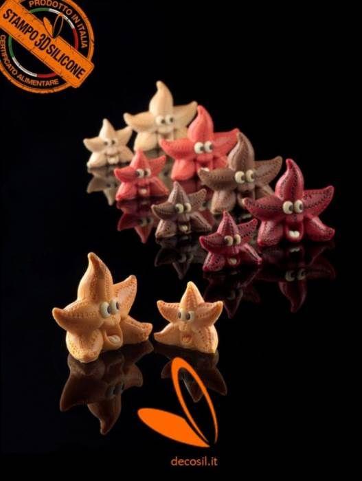Stampo Stelle Marine per decorazione torte compleanni