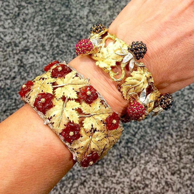 flower foliate cuffs...rare and irresistible ❤️