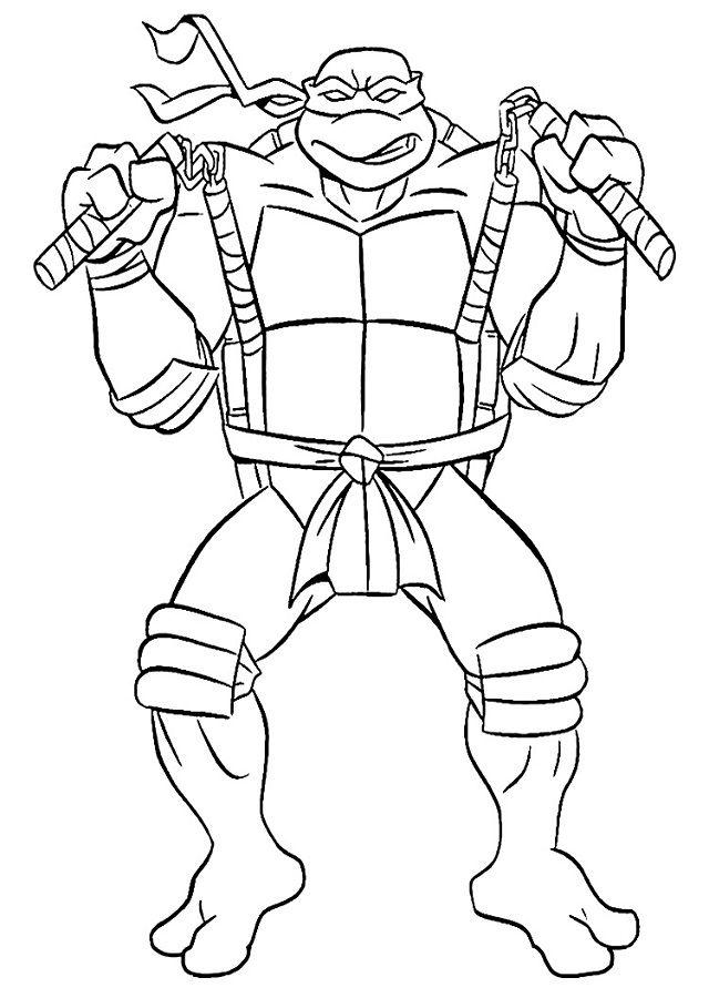 Tortugas Ninja Para Colorear Tortugas Ninjas Paginas Para