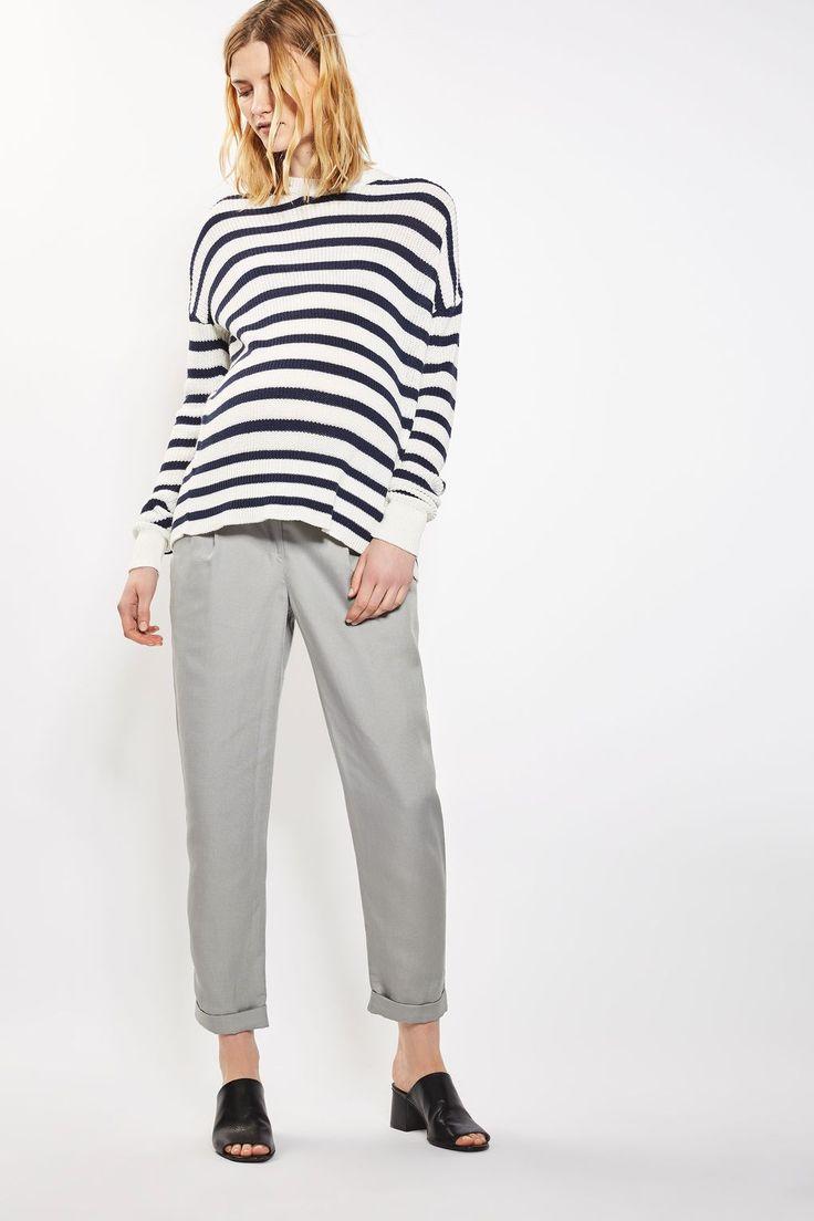 MATERNITY Mensy Peg Trousers   Topshop