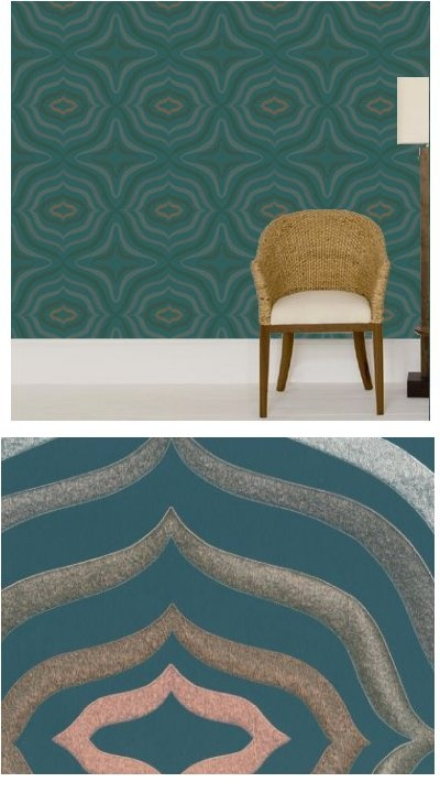 Silver And Copper On Teal/wallpaper