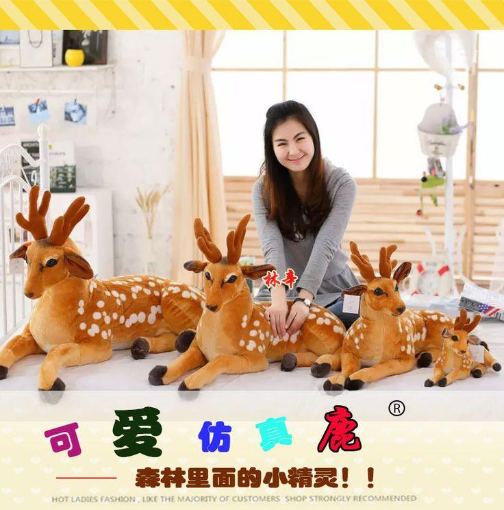 Girafa de brinquedo de pelúcia, Simulação veados, Bonecas veados, Presente de aniversário de presente bonito, Presente de natal em Stuffed & Plush Animais de Brinquedos Hobbies & no AliExpress.com | Alibaba Group