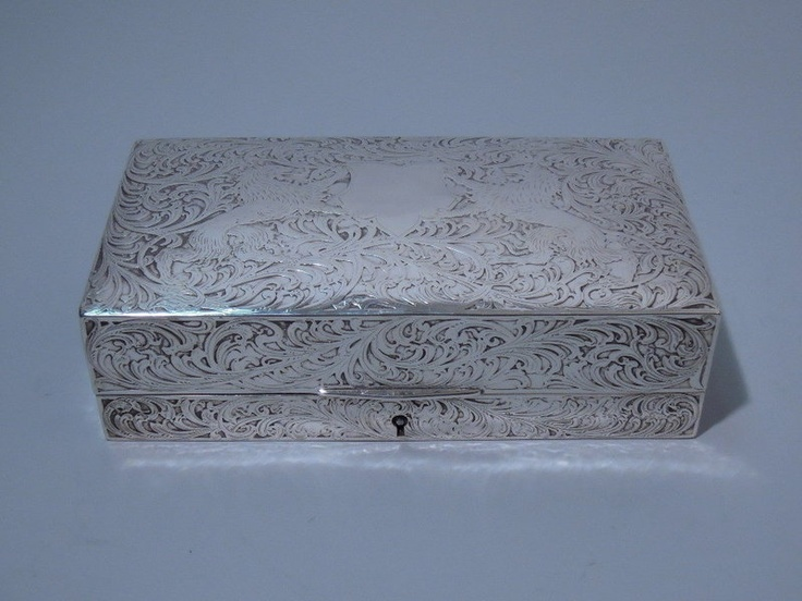 Black Starr Frost American Sterling Silver Jewelry Box C 1900 | eBay: American Silver, Sterling Silver Jewelry