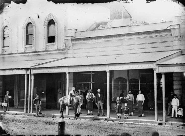 Queen Street, Brisbane, ca 1872