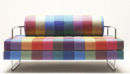 OWO Biesse Sofa Visit Store » Uploaded by Jami Goldsmith Oh how I wish I had a modern home I could place this beauty in. Normally I look for neutral colors when it comes to big-ticket items like a sofa, but this piece is something that can stand the test of time in my book! After all, how can a rainbow go out of style?