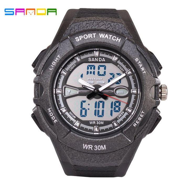 2016 SANDA S Shock LED Waterproof Military Sports Chronograph Watch