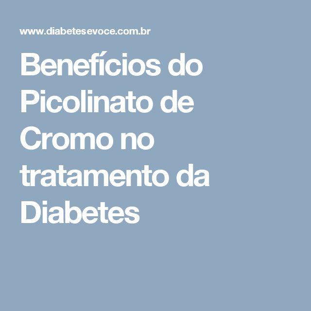 Benefícios do Picolinato de Cromo no tratamento da Diabetes