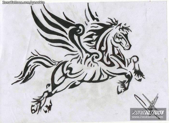 Diseño/Plantilla tatuaje Pegasos