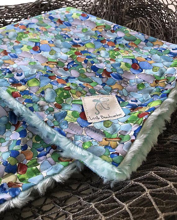 Baby lovey baby blanket security blanket nautical blanket