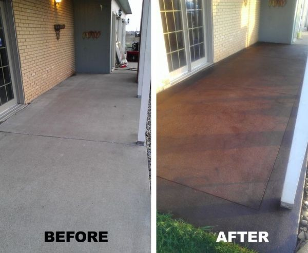 Front porch - Stained Concrete...a definate must for my front porch!! by Gloria Segura