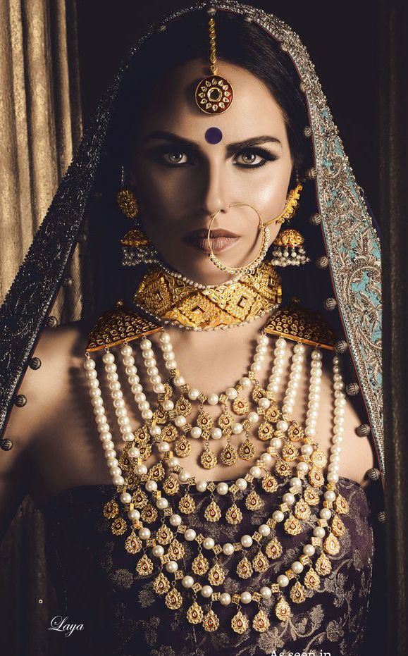 Indian Bride wearing wedding jewellery.
