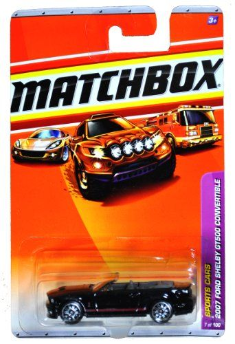 Mattel Year 2009 Matchbox MBX Sports Cars Series 164 Scale Die Cast Car 7  Black High Performance Car Year 2007 Convertible Ford Shelby GT500 R4958 ** Continue to the product at the image link.Note:It is affiliate link to Amazon.