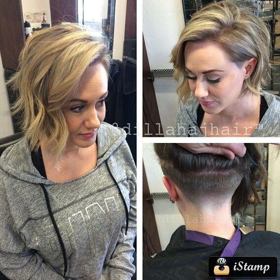 Undercut Hairstyle for Medium Wavy Hair