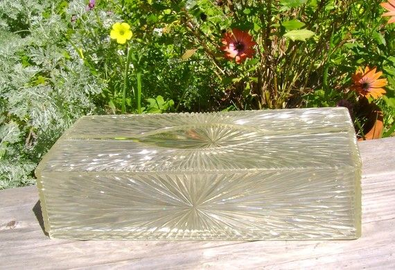 LUCITE  Tissue Holder  MIDCENTURY  Old by DragonflyStudios74