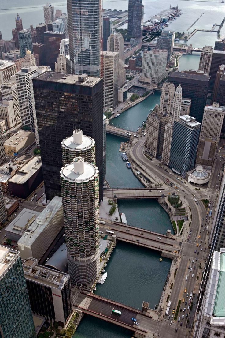 The Chicago River runs 156 miles through the greater Chicago area, including downtown. The river is especially known for the local custom of dyeing the water bright green for St. Patrick's Day.