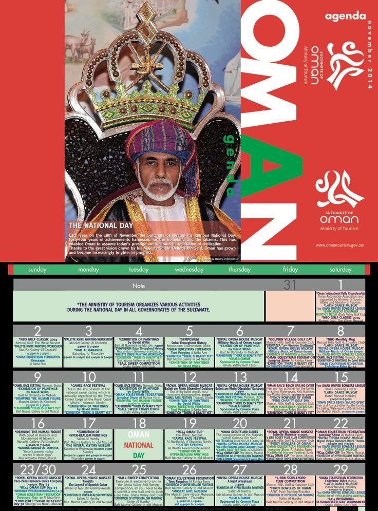 Oman Agenda November 2014.The activities and events happening in Oman for the month. #Oman #agenda #november #travel #myOman #TravelToOman