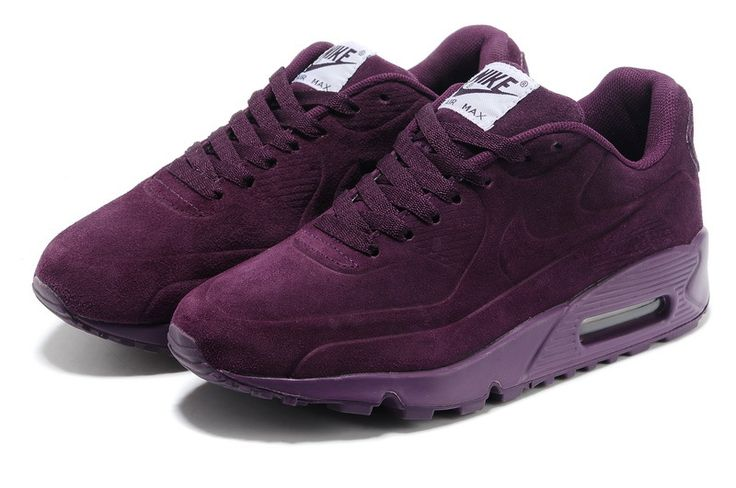 Nike air max 90 burgundy suede.