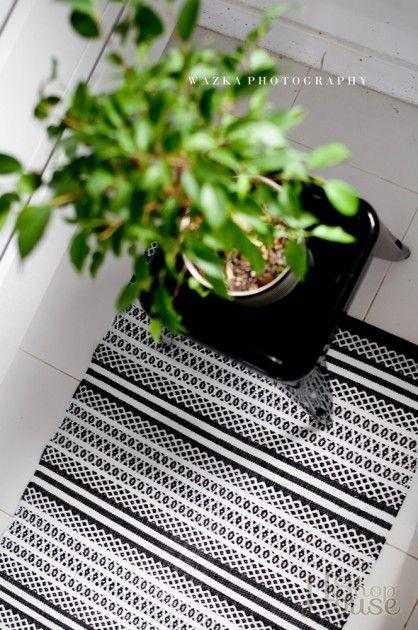 Chodnik Svanefors czarno bia u0142y wzór 70×140 cm, Dywany i chodniki, HouseShop h o m e d e c