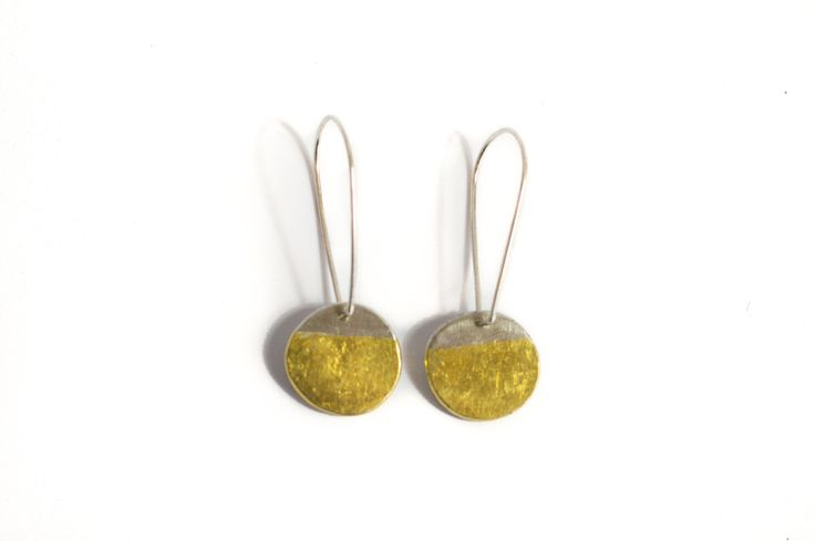 Solar Eclipse Earring - 24ct gold and silver. Skye Allan Jewellery