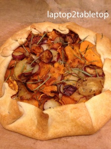 Savory Sweet Potato and Rosemary Rustic Tart via Laptop2TableTop