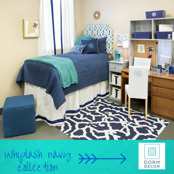 Decorating Ideas > 17 Best Images About Designer Dorm Rooms On Pinterest  ~ 113639_Dorm Room Ideas Blue