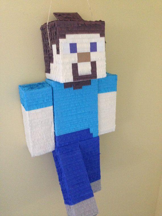 #Minecraft piñata featuring Steve from Minecraft!