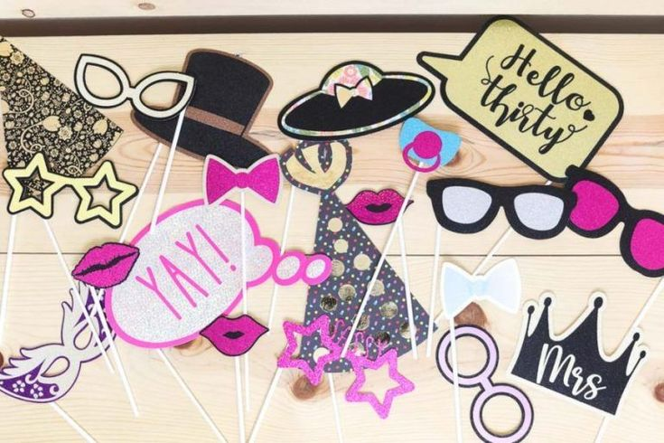 Diy photo booth props with your cricut free svg templates