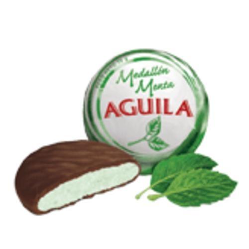 medallon de menta cubierto con chocolate - aguila