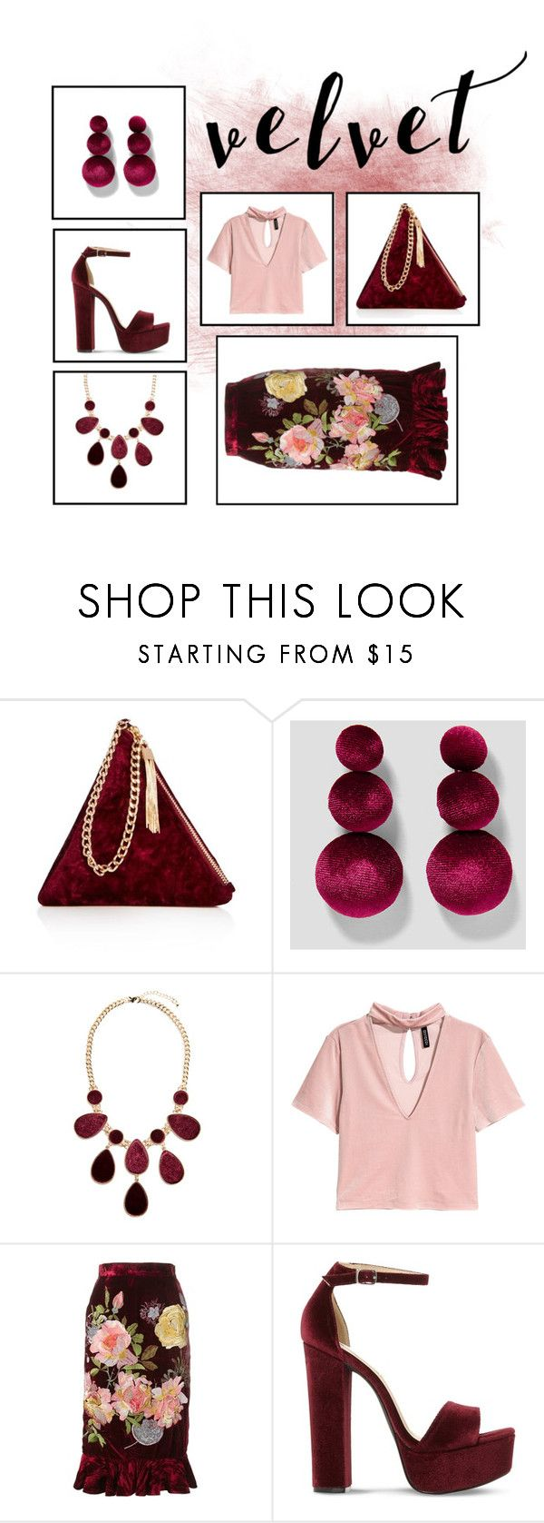 """{velvet}"" by calliebethd ❤ liked on Polyvore featuring Street Level, GUESS by Marciano, Alice Archer, Steve Madden, Fall, trending and velvet"
