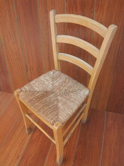 Wooden chair, Before Painted and distressed.