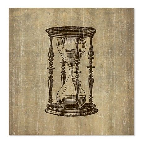 Vintage Hourglass Shower Curtain | Hourglass, Tattoo and ...
