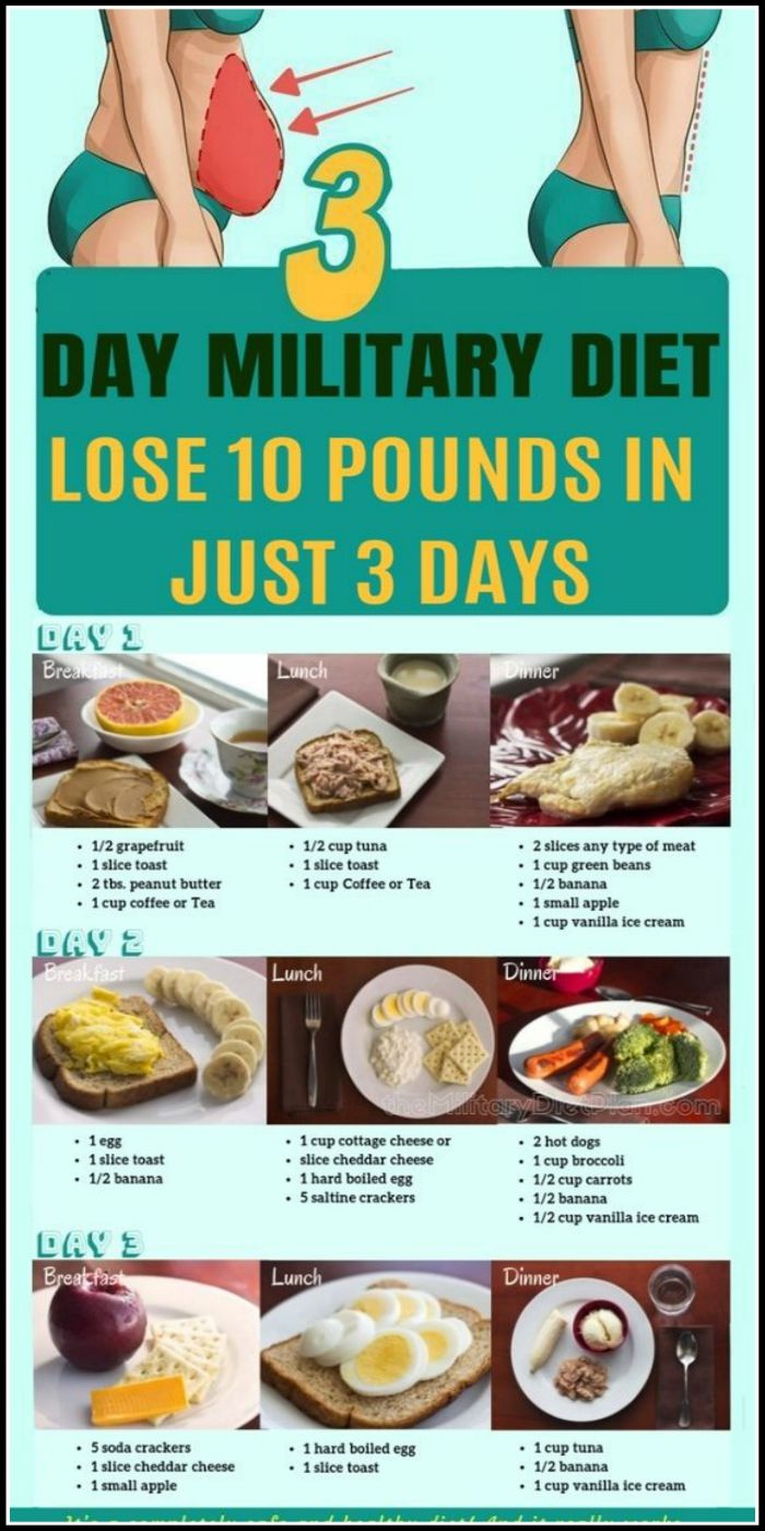 milatary 3 day diet lose 10 lbs