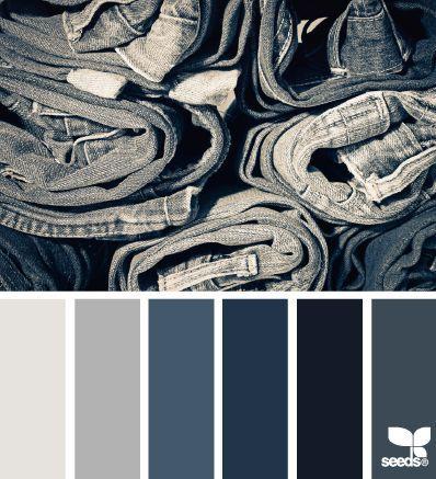 Design Seeds color palette for denim jeans