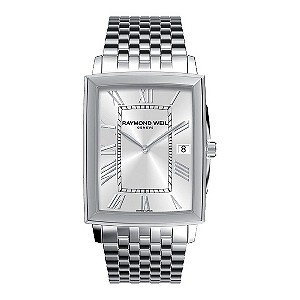 Raymond Weil men's stainless steel bracelet watch - Ernest Jones
