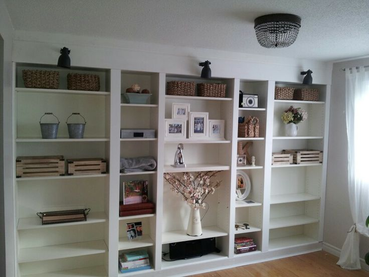 Ikea Billy Bookcase Built Ins Over Door