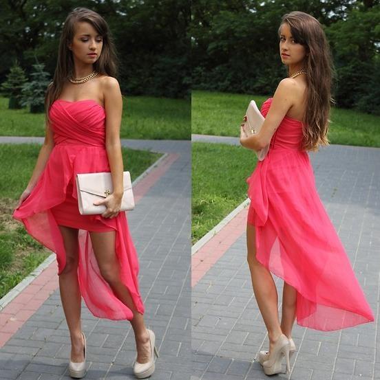 vestido defiesta estilo largo y corto