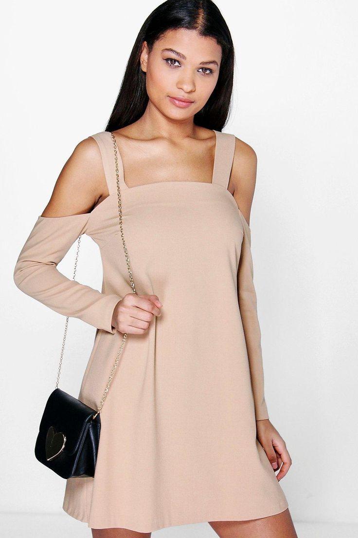 Paulina Cold Shoulder Pinafore Dress