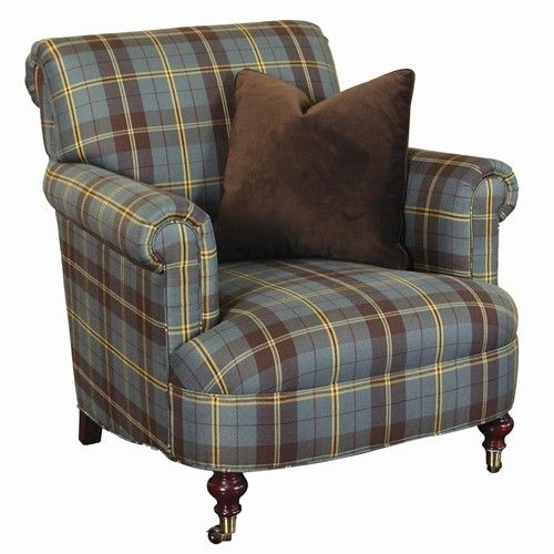 Ralph Lauren Tartan Rooms | Lauren Ralph Lauren Mitchell Place Blue Plaid Cigar Chair