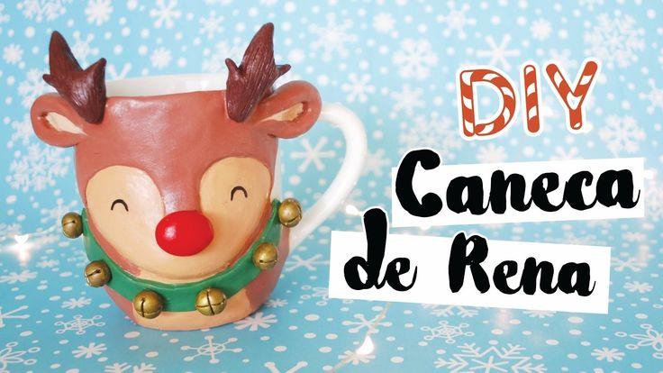 DIY: Caneca de Natal (Rena do Papai Noel)! Por Isabelle Verona