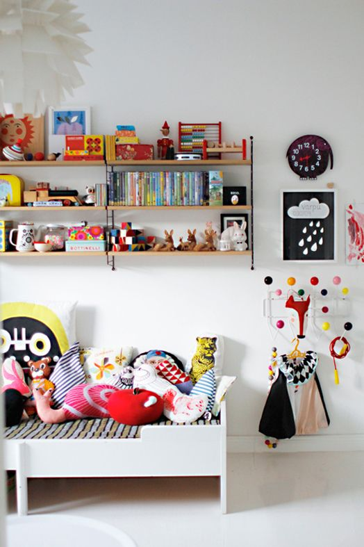 Typically Scandinavian - a white background with pops of colour & pattern.