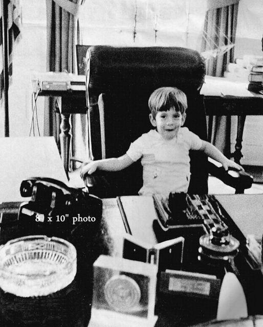 JFK Jr John Kennedy at White House Presidential Desk | eBay