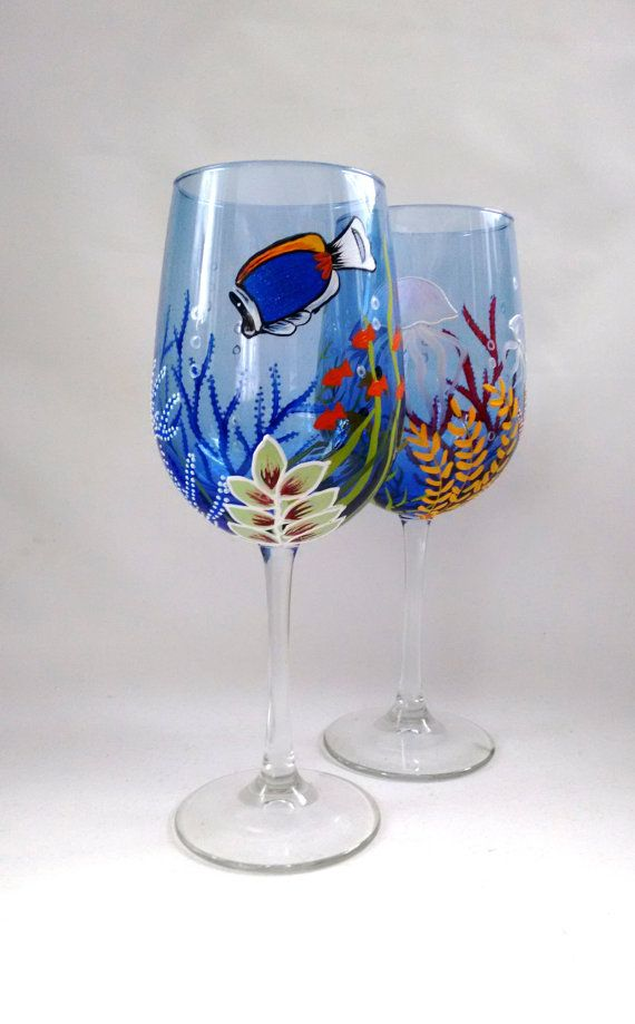 47 best images about christmas party gift ideas on for Christmas painted wine glasses pinterest